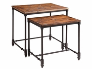 Stein World 12352 Set of 2 Wood & Metal Nesting Tables