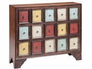 Stein World 12367 123683-Drawer Multi-Colored Cabinet