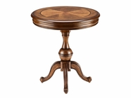 Stein World 12373 Round Table withButterfly Pattern Veneer