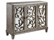 Stein World 12398 3-Door Mirrored Cabinet