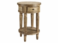 Stein World 12414 1-Drawer Round Accent Cabinet