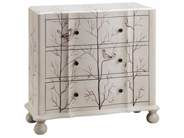 Stein World 12416 3-Drawer Painted Bird Chest