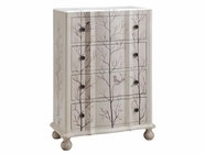 Stein World 12417 4-Drawer Painted Bird Chest