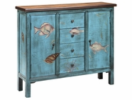 Stein World 12419 2-Door, 4-Drawer Painted Cabinet