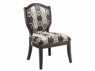 Stein World 12427 Accent Chair withRing-Pattern Fabric
