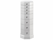 Stein World 12549 Octagonal Pedestal 8 Drawers