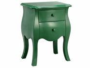 Stein World 12655 2 Drawers Cabinet Green