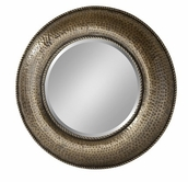 Stein World 12671 Bronze hammered round mirror