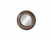 Stein World 12672 Copper hammered round mirror
