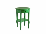 Stein World 12746 High Gloss Green Round Table 1-Drawer