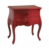 Stein World 12747 High Gloss Red 2-Drawer Chest