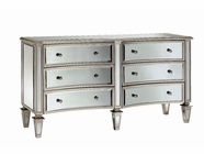 Stein World 12885 Bow-Front 6-Drawer Mirrored Chest