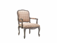 Stein World 12930 Accent Chair w/Suzani Poppy Fabric