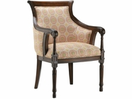 Stein World 12935 Accent Chair w/Suzani Poppy Fabric