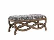 Stein World 12955 Accent Bench w/Incognito Quartz Fabric