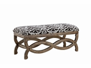 Stein World 12956 Accent Bench w/Zanzibar Pewter Fabric