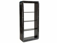Stein World 12985 Black Aluminum Bookcase