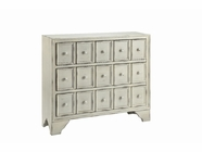 Stein World 13012 3-Drawer Cabinet in Distressed White