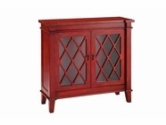 Stein World 13013 2-Glass Door Cabinet in Red