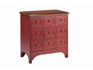 Stein World 13015 9 Drawers Cabinet In Red