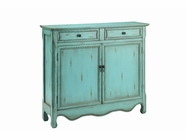 Stein World 13017 Cupboard 2Dr 2Dw Antique Blue
