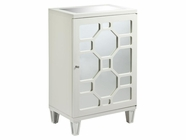 Stein World 47816-L CABINET 1-DOOR MIRRORED WHITE