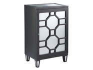 Stein World 47817-R CABINET 1-DOOR MIRRORED GUNMETAL