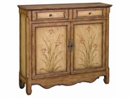 Stein World 58587 Cupboard 2Dr 2Dw Honey Brown/ Floral