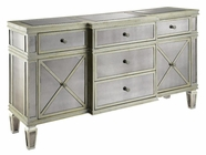Stein World 64755 Breakfront Credenza 2Dr 5Dw Mirrored