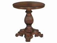 Stein World 65219 Round Pedestal Table Brown Cherry