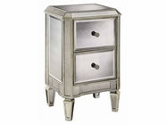 Stein World 75808 Chairside Chest 2Dw Mirrored