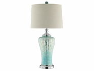 Stein World 90026 SHAE BLUE GLASS LAMP