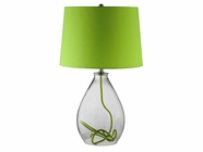 Stein World 98367 VERDE GLASS LAMP