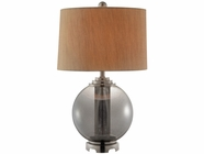 Stein World 99703 Ledston Metal smoking grey glass table lamp