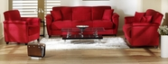 Sunset ASPEN SOFA and LOVESEAT RAINBOW RED