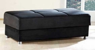 Sunset ELEGANT OTTOMAN RAINBOW BLACK