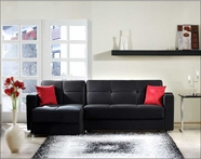 Sunset ELEGANT SECTIONAL RAINBOW BLACK
