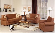 Sunset ELITA SOFA and LOVESEAT RAINBOW BROWN