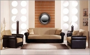 Sunset ENEA SOFA and LOVESEAT RAINBOW DARK BEIGE
