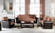 Sunset ENEA SOFA and LOVESEAT RAINBOW TRUFFLE