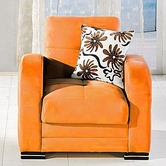 Sunset  KUBO ARMCHAIR RAINBOW ORANGE
