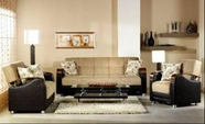 Sunset LUNA SOFA and LOVESEAT FULYA BROWN