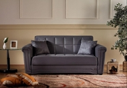Sunset VICTORIA LOVESEAT SLEEPER RAINBOW DARK GRAY