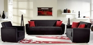 SunsetMIAMI SOFA and LOVESEAT RAINBOW BLACK