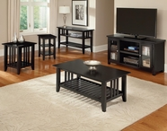 Vaughan Bassett 110-016-56 Casual Occasional Table Set Black Finish