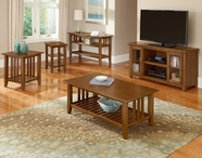Vaughan Bassett 110-019-59 Casual Occasional Table Set Dark Oak Finish