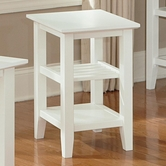 Vaughan Bassett 110-074 Casual Chairside Table White Finish