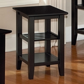 Vaughan Bassett 110-076 Casual Chairside Table Black Finish