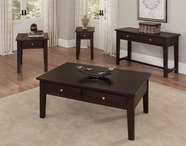 Vaughan Bassett 140-010-050 Aaron Merlot Occasional Table Set