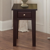 Vaughan Bassett 140-070 Aaron Merlot Chairside Table